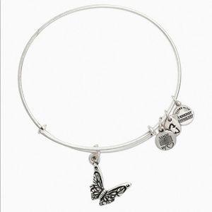 Alex and Ani Butterfly Charm Bracelet
